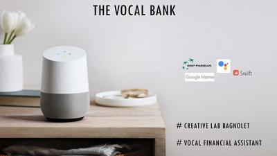 Les outils OAIO tels que le Lab innovation présentent The Vocal Bank, assistant vocal pour opérations financières